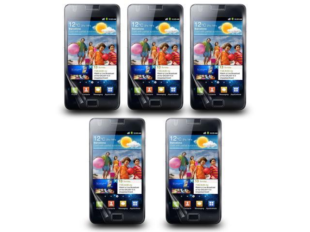 Lot 5 AntiGlare LCD Screen Skin Protector Film Cover For Samsung Galaxy S2 I9100