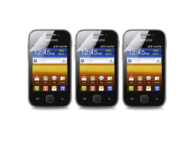 Lot 3X Clear LCD Screen Guard Protector Film Shield For Samsung Galaxy Y S5360