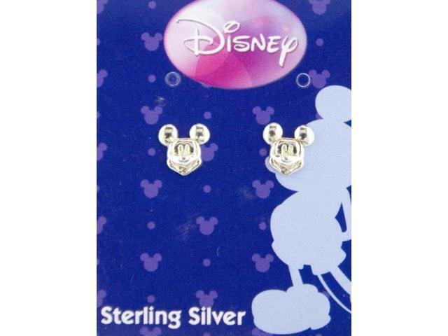 Disney Mickey Mouse  Sterling Silver Stud Earrings Jewelry