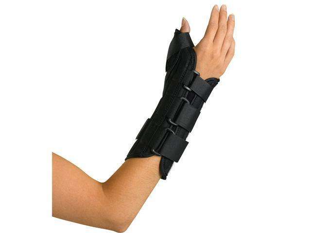 Medline ORT18210RM Wrist and Forearm Splint with Abducted Thumb,Medium Case Of 1 EA