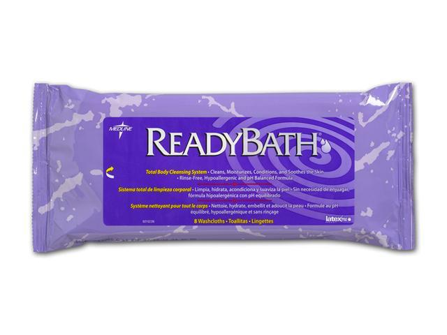 Medline MSC095102 ReadyBath Premium Wipes,0 Case Of 24 PK