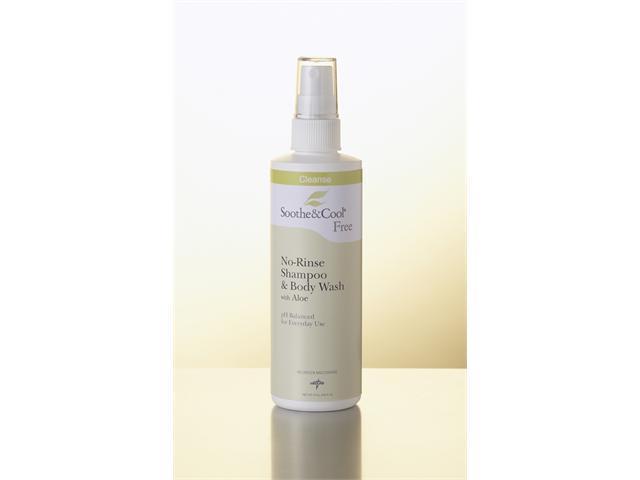 Medline MSC095440 Soothe & Cool No Rinse Shampoo & Body Wash Case Of 12 EA