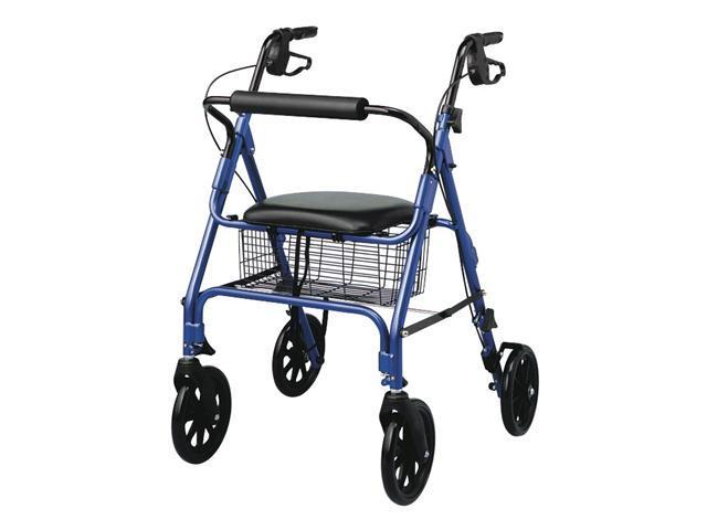 "Medline MDS86825 Rollators with 8"" Wheels,Blue Case Of 1 EA"