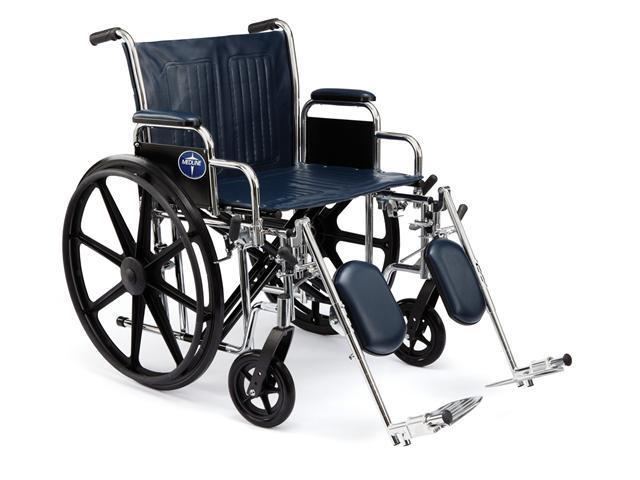 Medline MDS806700FLA Excel Extra-Wide Wheelchairs Case Of 1 EA
