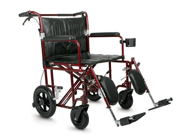 Medline MDS808200BAR Freedom Plus Heavy-Duty Transport Chair Case Of 1 EA