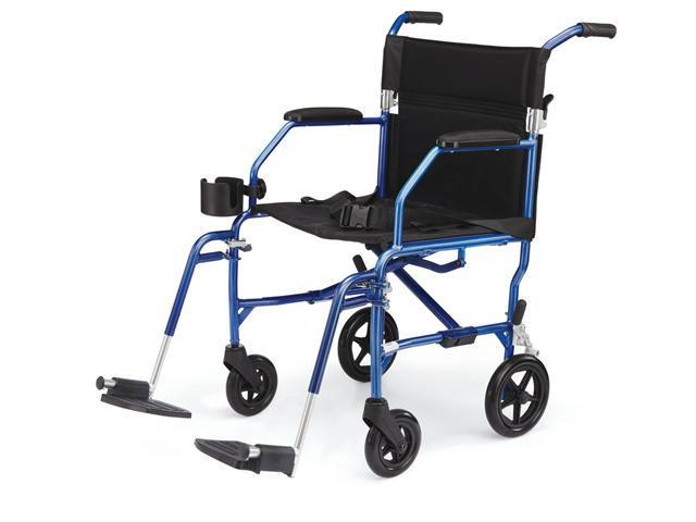 Medline MDS808200SLBR Freedom Transport Chairs,Blue Case Of 1 EA