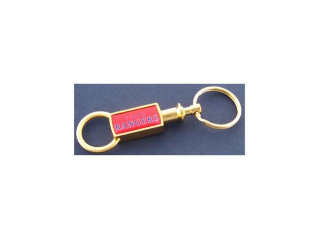 Texas Rangers Gold Tone Valet Keychain
