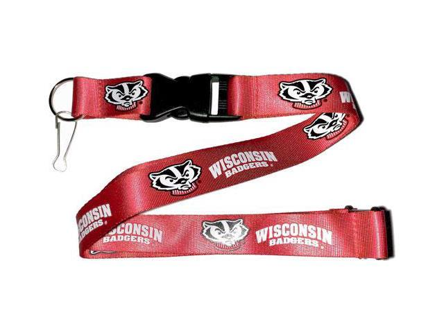 Wisconsin Badgers Clip Lanyard Keychain Id Holder Ncaa