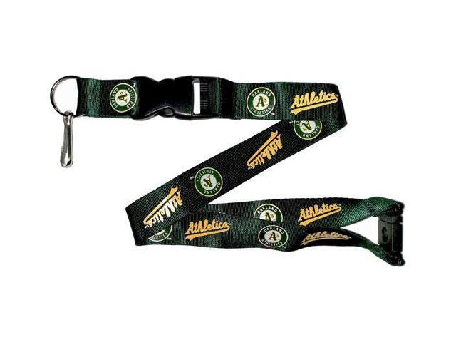 Oakland A s Athletics Clip Lanyard Keychain Id Ticket - Green