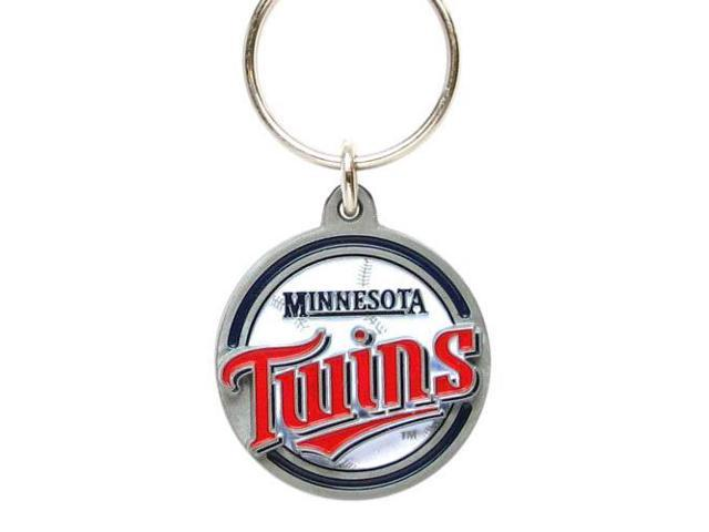 Siskiyou Gifts SBK135Z MLB Zinc Key Ring- Twins