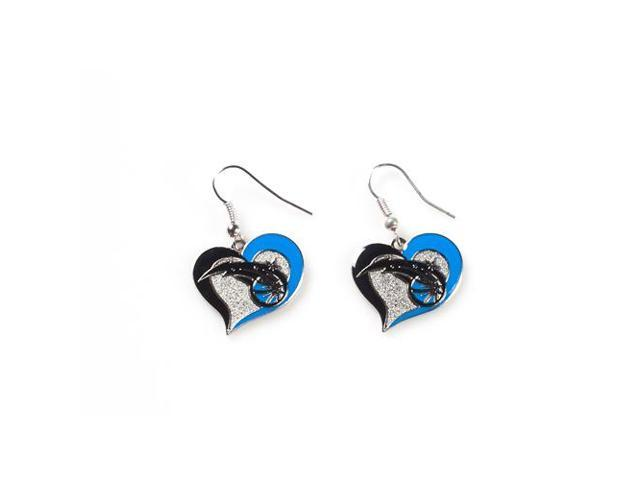 Orlando Magic Swirl Heart Earrings