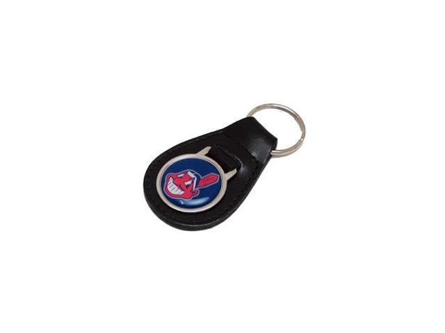 Cleveland Indians Leather Key Chain