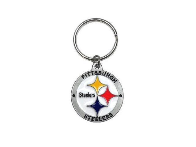 Pittsburgh Steelers Zinc Logo Keychain NFL