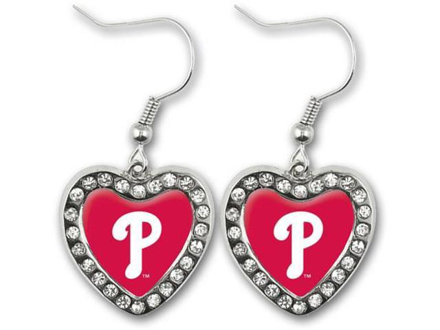 Philadelphia Phillies Crystal Heart Earrings