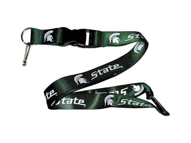 Michigan State Spartans Clip Lanyard Keychain Id Ticket