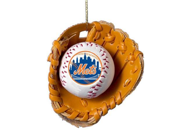 New York Mets Ball and Glove Christmas Ornament