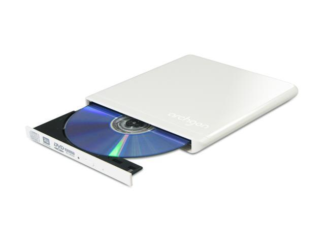 Archgon Ultra Portable DVD Writer USB 2.0 - White