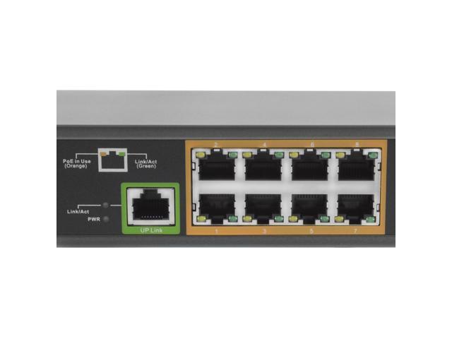 Bv Tech Poe Sw801 9 Port Poe Switch 8 Poe Ports With 1