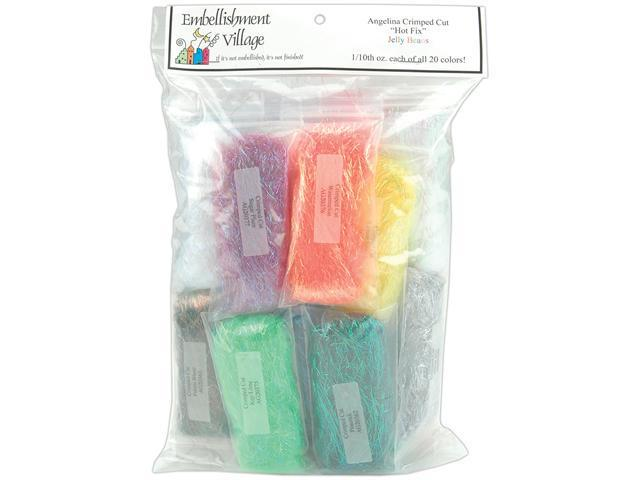 Angelina Crimped Cut Fibers .1 Ounce 13/Pkg-Jelly Beans