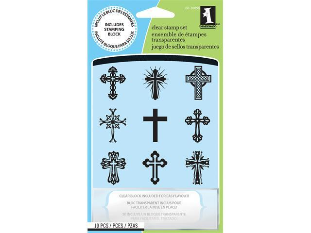 Inkadinkado Inchie Clear Stamps -Crosses