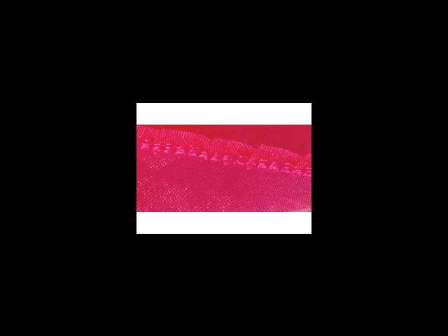 Sheer Ribbon W/Ruffled Edge 5/8