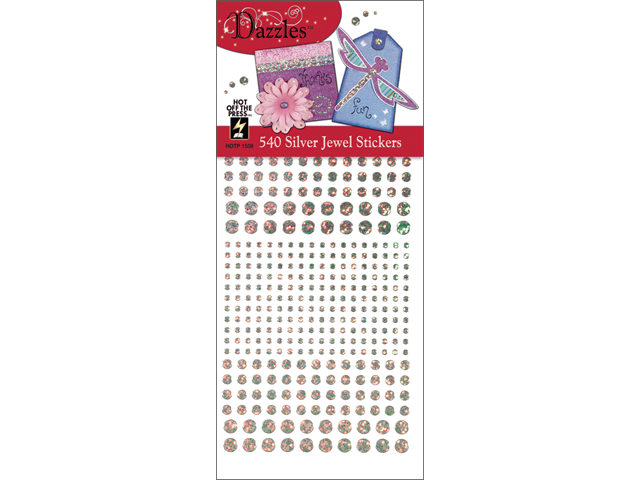 Dazzles Stickers -540 Silver Jewel