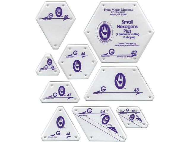 Perfect Patchwork Template-Set G - Small Hexagon Set 9/Pkg
