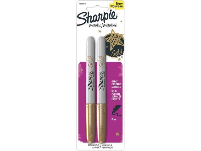 Sharpie Metallic Permanent Markers 2/Pkg-Gold