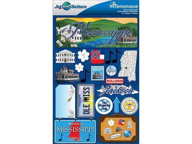 Jet Setters Dimensional Stickers 4.5