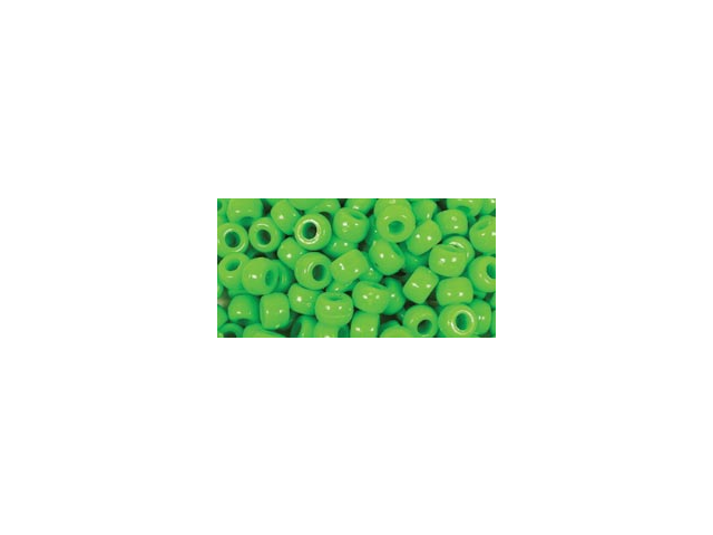 Barrel Pony Beads 6mmX9mm 175/Pkg-Kelly Green