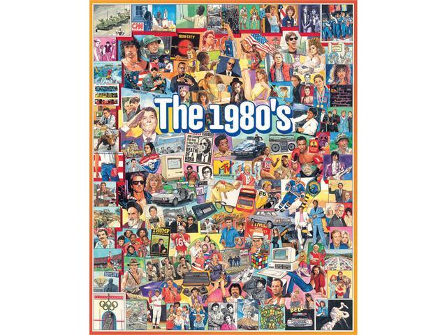 The 1980s 1000 Piece Puzzle by White Mountain Puzzles