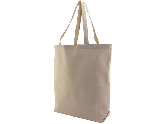 "Canvas Large Tote Bag 13""x5""x17""-Natural"