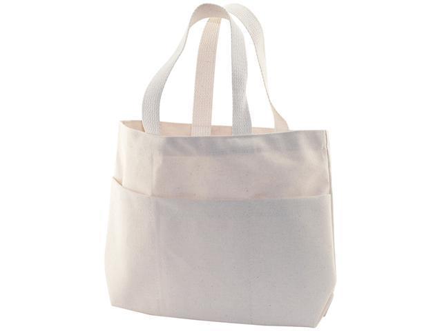 """Canvas Small Pocket Tote Bag 9""""X2-3/4""""X10""""-Natural"""
