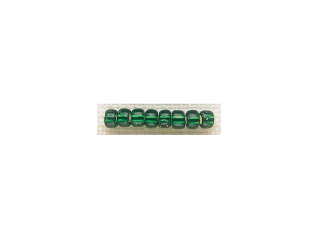 Mill Hill Glass Beads Size 6/0 4mm 5.2 Grams/Pkg-Brilliant Green