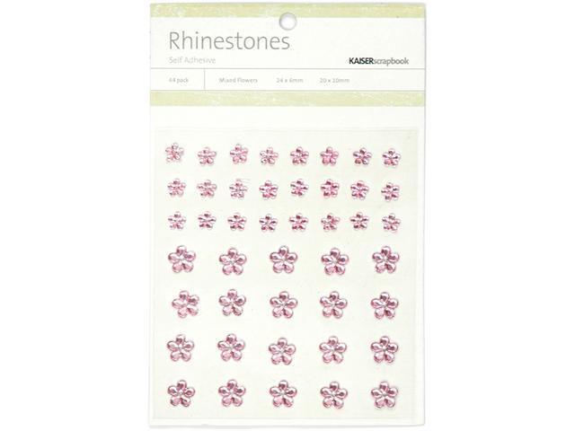 Self-Adhesive Flower Rhinestones 44/Pkg-Light Pink