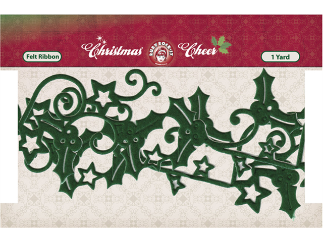 Christmas Cheer Die-Cut Felt Ribbon 2