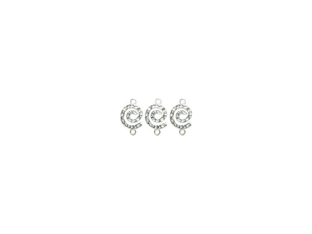 Plated Silver Elegance Metal Findings-Spiral Connectors 4/Pkg