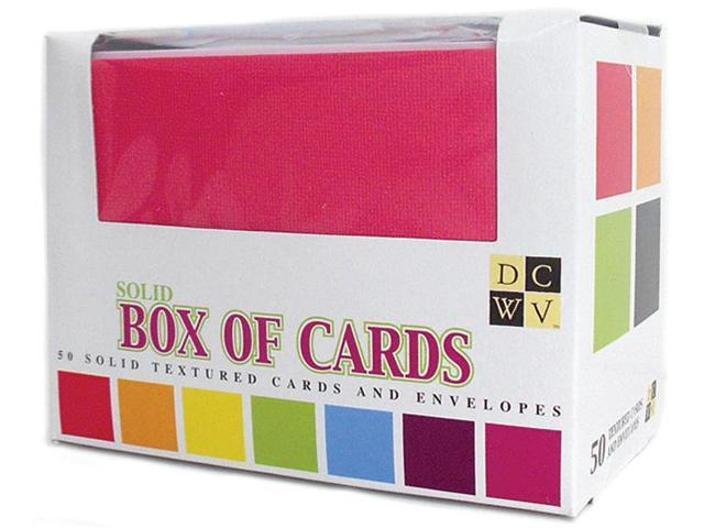 Box Of Cards & Envelopes-Assorted Solids A2 Size 50/Pkg