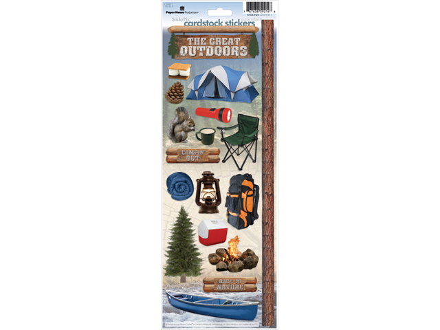 Paper House Cardstock Stickers-Camping 2