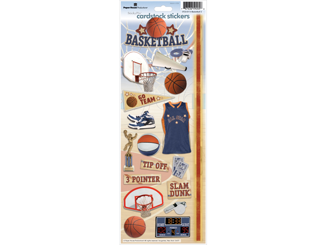 Paper House Cardstock Stickers-Basketball 2