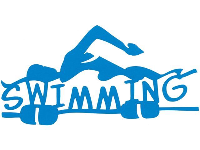 Cardstock Laser Die-Cuts-Swimming
