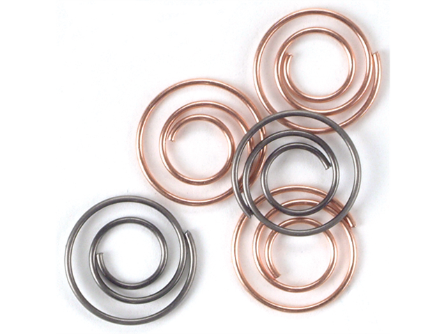 Mini Metal Spiral Clips 25/Pkg-Antique & Copper