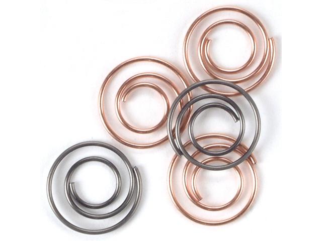 Mini Metal Spiral Clips 25/Pkg-Antique & Copper