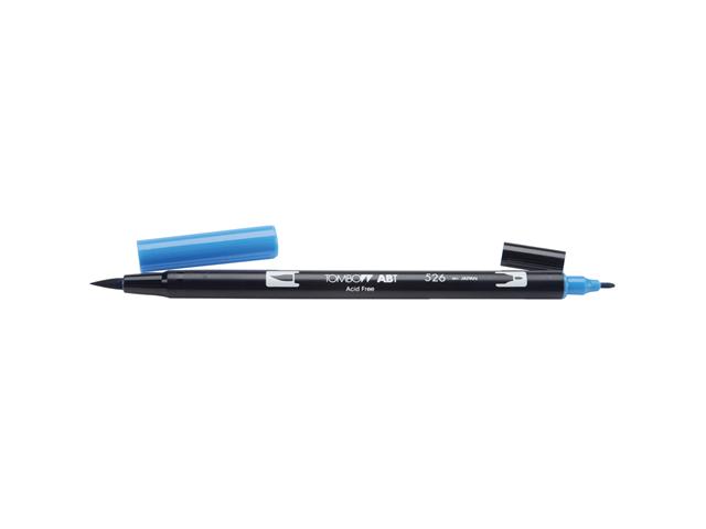 Tombow Dual Brush Marker Open Stock-526 True Blue