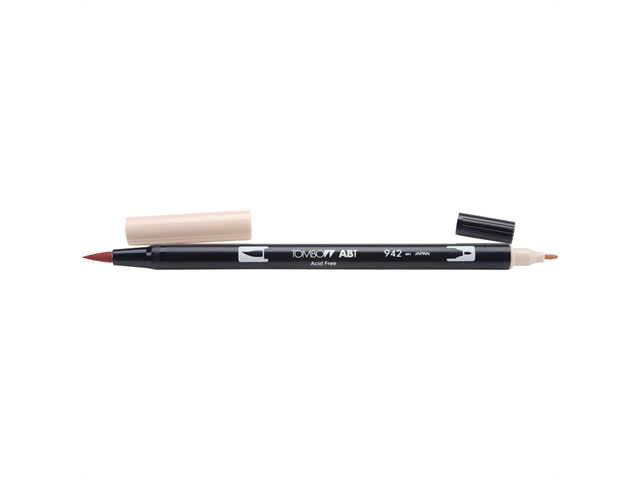Tombow Dual Brush Marker Open Stock-942 Tan
