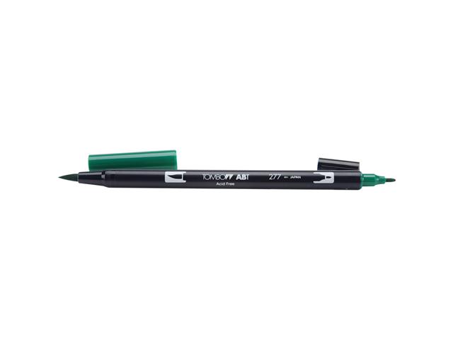 Tombow Dual Brush Marker Open Stock-277 Dark Green