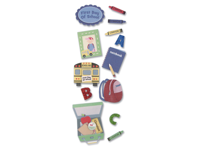 Touch Of Jolee's Dimensional Sticker-Baby/First Day Of School