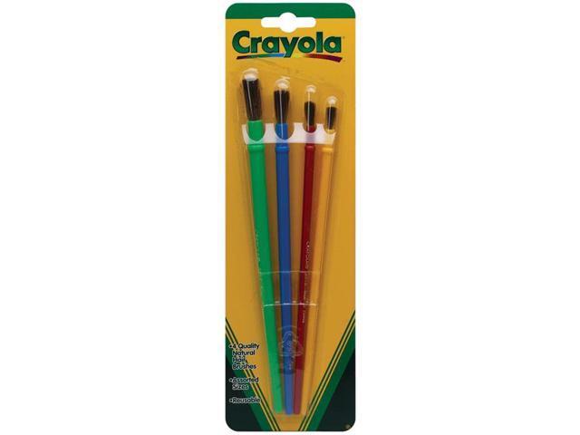 Crayola Llc Formerly Binney & Smith BIN053515 Art & Craft Brush Set 4Ct Blister