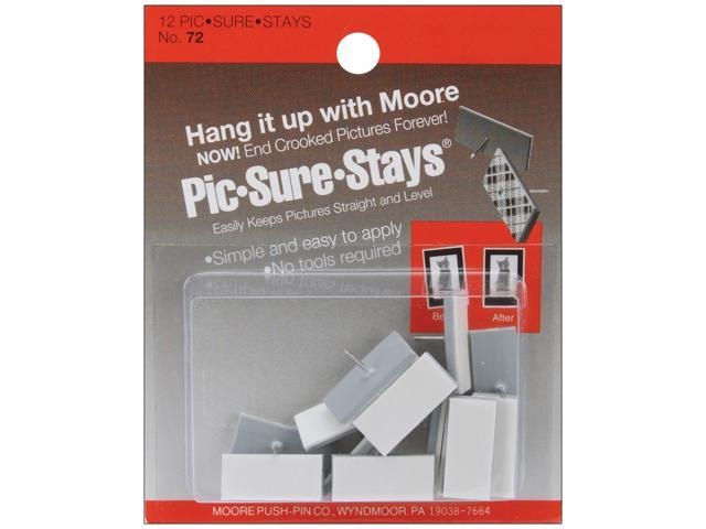 Self-Adhesive Pic-Sure-Stays Picture Hangers 12/Pkg-