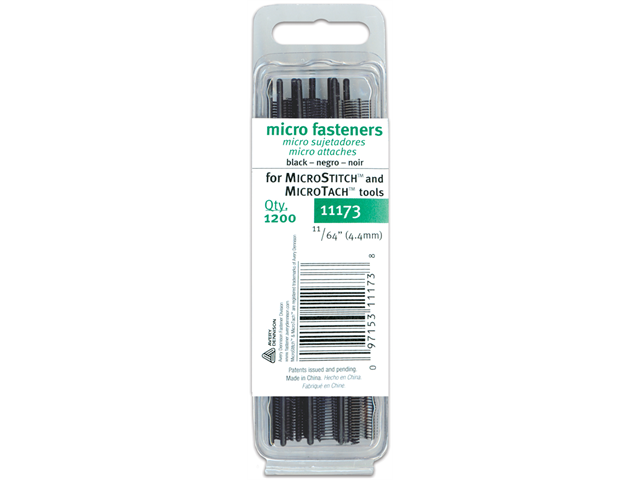 Micro Stitch Fastener Refills 4.4mm Black-11/64
